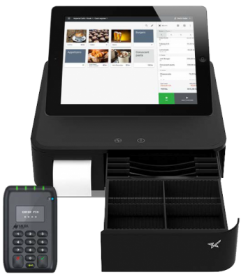 paybox light med skuff , Paybox ipad kasse kassapparater, kassaystemer, kortterminal og betalingsterminal