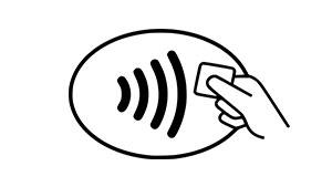 kontaktløs betaling, NFC symbol, kontaktløs betaling symbol, kontaktløs symbol, NFC, Near Field Communication, Nærfeltskommunikasjon